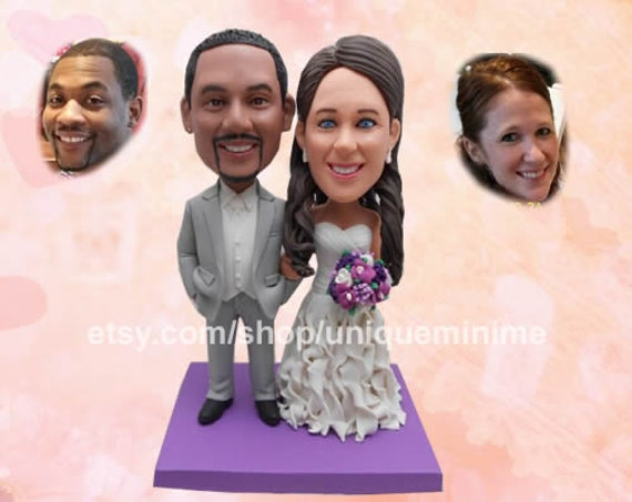 Gag Wedding Gifts For Couples: Unique Wedding Gift For Couple Custom Bobblehead Doll Funny
