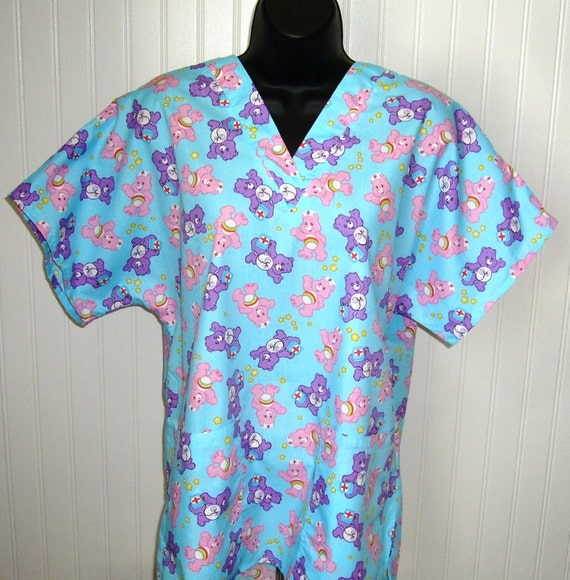 Care Bear Medical Themed Scrubs Medical Nursing Relaxed Fit