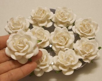 10 Paper Flowers Size 2 Mulberry Craft Flower