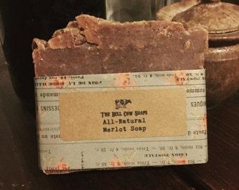 All-Natural Merlot Soap, wine soap, merlot soap, wine gift, merlot gift, red wine soap, handmade soap