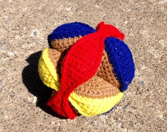 Crochet Amish Puzzle Ball / Amish Puzzle Ball / Baby Toy / Educational Toy / Plushie / Soft Toys / Crochet Toys / Kids Toys