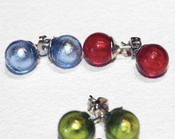 Earrings, Murano glass handmade