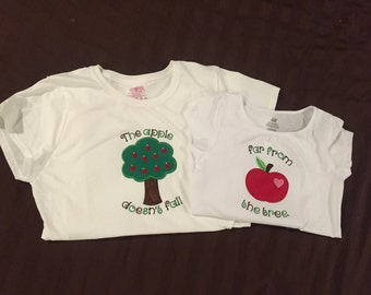 The Apple Doesn't Fall Far From the Tree Mother/Daughter Shirt Set