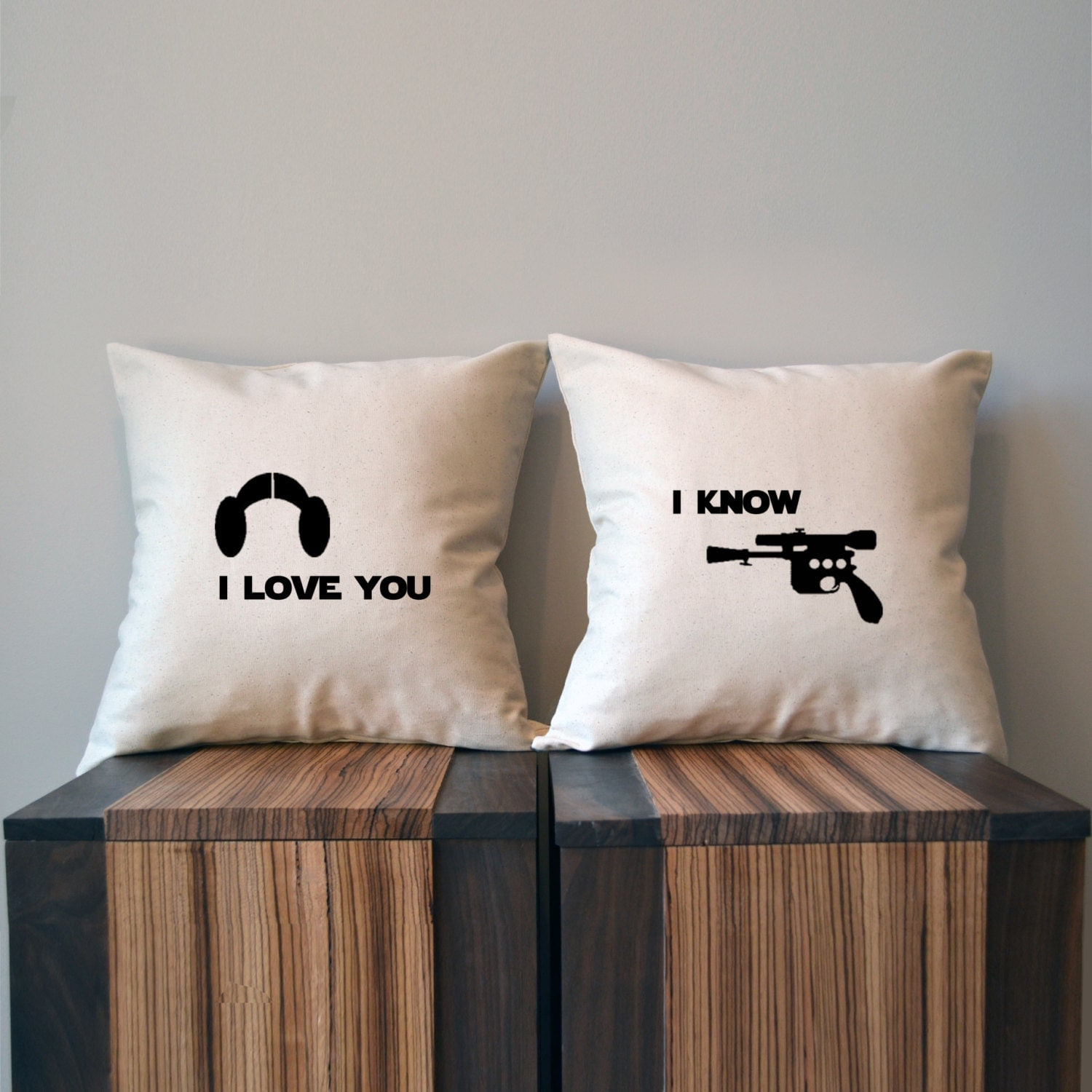 I Love You Know Star Wars Pillow Cover Set Luke And Leia