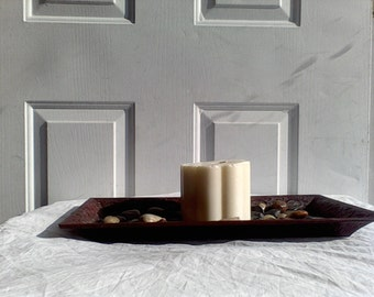 Scallop Pillar Candle , Scented flower candle , soy blend wax, flower shaped, 5 petal scallop candle, Jasmine Scented