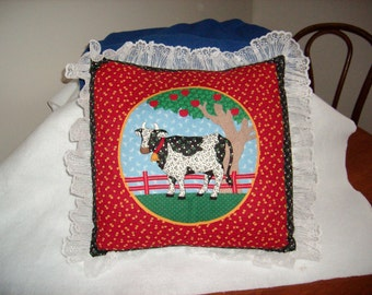 Cow Pillow--16 inch square