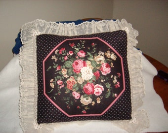 Rose Print Pillow
