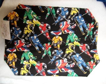 Set of 4 Hockey Player Placemats