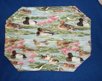Set of 4 Mallard Duck Placemats