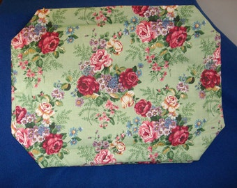 Set of 4 Large Flower Bouquet Placemats