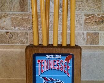 Tennessee Titan Wood Pencil Holder