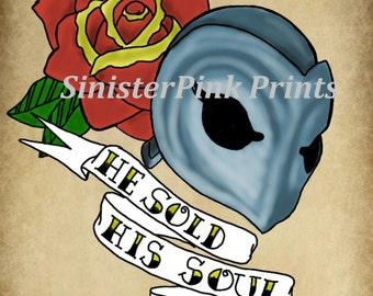 Phantom of the Paradise Tattoo Flash Print
