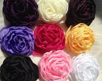 Satin flower, Peony, Satin peony, Fabric Flower