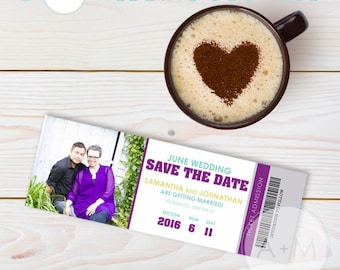 Printable Save The Date, Save The Date, Wedding, Save Our Date, CUSTOMIZED, Samantha Collection