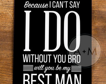 Will You Be My Groomsman, Cards, Best Man, Wedding Party, (Set of 2), 5x7 MIKE Collection