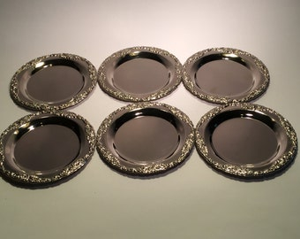 Vintage Silver Plated Drink Coasters From The 1970's