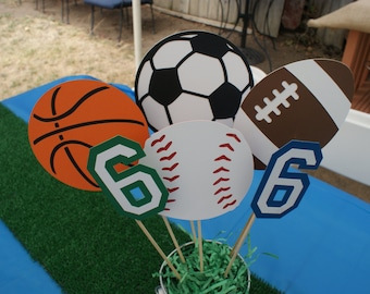Sports Centerpiece,Sports Party Centerpiece, Sports Theme Baby Shower Centerpiece, Sports Birthday Centerpiece, Baseball Centerpiece