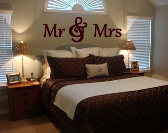 MR & MRS Wood Letters,Wall Décor-Painted Wood Letters