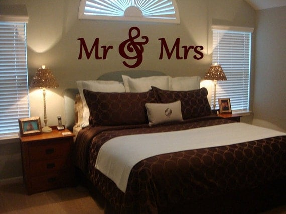 Mr Mrs Wood Letterswall D Cor Painted Wood Letters