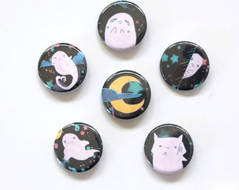 Ghosts Button Set