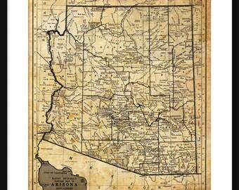 Arizona Map - Print - Poster