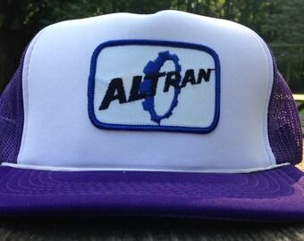 Vintage Altran Trucker Hat Snapback Baseball Cap Patch