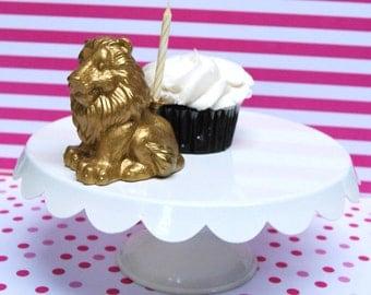 Golden Lion Candle holder