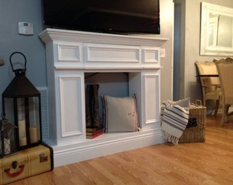 Faux Fireplace Mantle & with Storage Luxury