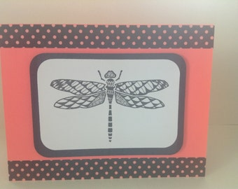 Zentangle Dragonfly Card