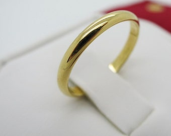 Size 49 - CARTIER WEDDING RING - 2.5mm, 18kt Yellow Gold