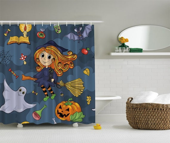 Shower Curtain Halloween Themed Witch By Charmingdivaboutique