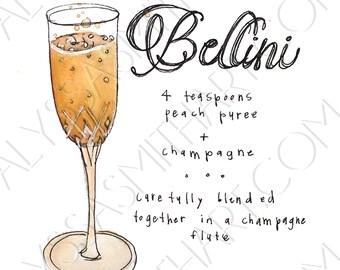 Bellini Drink Print