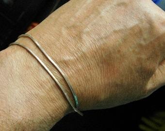 Vintage Sterling Silver Square Chain Necklace or Bracelet