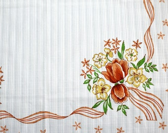 Vintage Tablecloth with Floral Print Retro Tablecloth Vintage Decor Accessories Vintage Interior