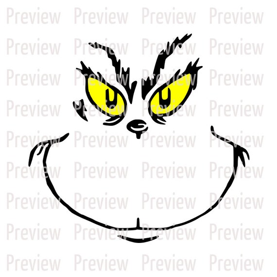 CUTTING FILE Grinch Face SVG Digital Cut File****Perfect For Vinyl