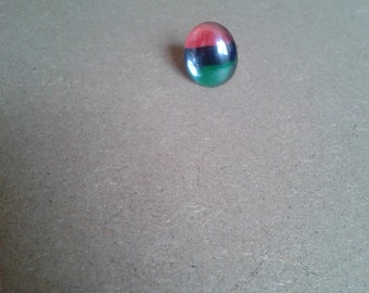RBG red black and green pan African glass ring