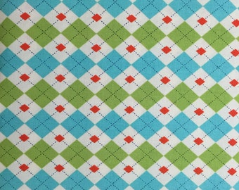 Argyle Cotton Fabric. BTY.