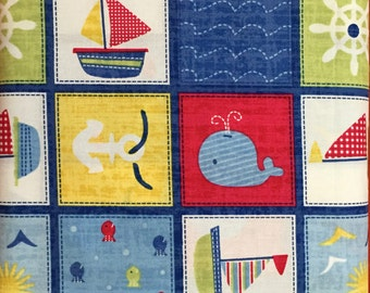 Nautical Cotton Fabric. BTY.