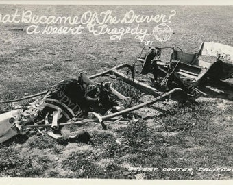Bleached Bones in the Desert Sun Vintage Postcard 'Desert Tragedy' Printable Digital Download