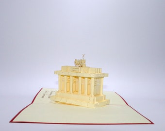 Brandenburger Tor - Unique, handcrafted Popwish Pop-Up Greeting Card or Invitation Card. A handcrafted greeting card perfect for Berlin.