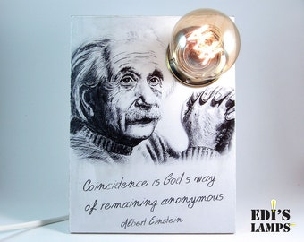 Albert Einstein Einstein quote Einstein art Albert einstein quote College dorm decorations College apartment decor Science teacher gift