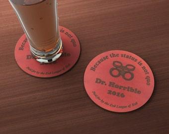 Dr. Horrible for President 2016 Geek Drink Coaster