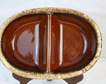 Hull Pottery Divided Bowl