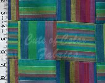 E15GA-569 Patchwork fabric made from yarn-dyed stripe coordinating fabrics in 100% cotton