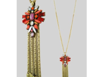 Red Starbust Necklace