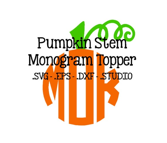Pumpkin stem monogram topper pumpkin stem svg pumpkin stem for Monogram pumpkin templates