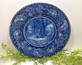 Historical  Plate Washingston's Prayer at Valley Forge 1777 (Stafforshire England)
