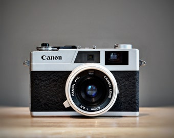 Art Print of Canon Rangefinder Canonet 28 Vintage Camera