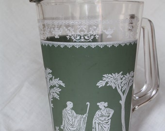 Vintage Green Hellenic Grecian Pitcher - 1950's - Jeanette
