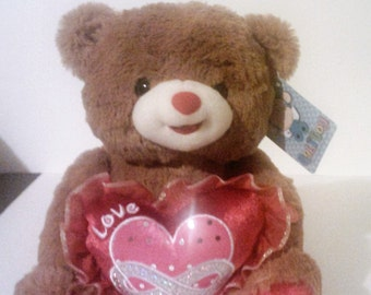 Teddy Bear With Love Heart And Music